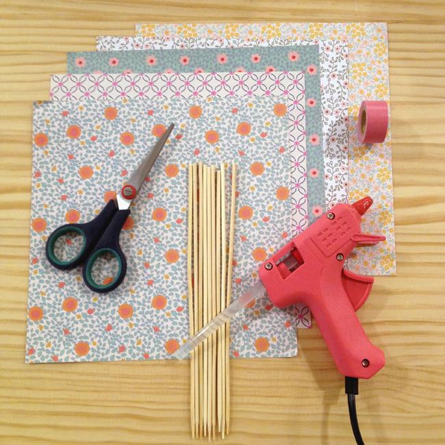 Materiales para hacer DIY para niños, flores de papel