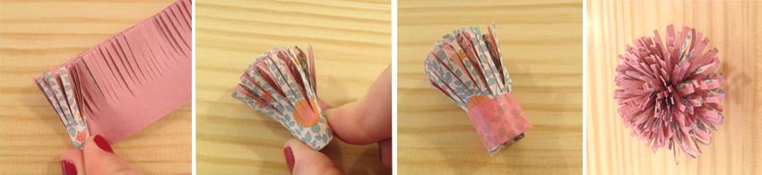Paso 3: Doblar la tira sobre si misma, como haciendo una canutillo