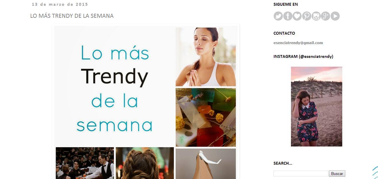 Noticia Esencia Trendy