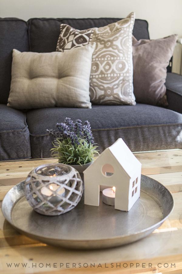DIY casita portavelas hecha con pasta blanca moldeable