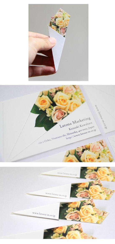 Tarjeta de visita que regala flores