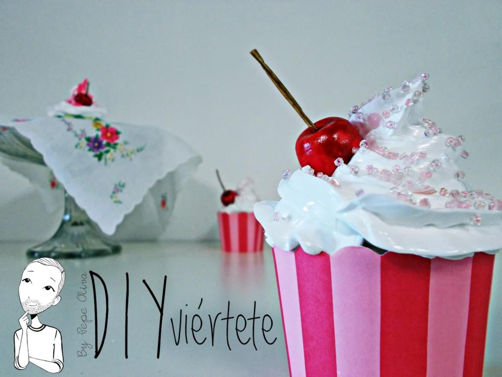 Cupcakes decorativos con la técnica japonesa de Decoden