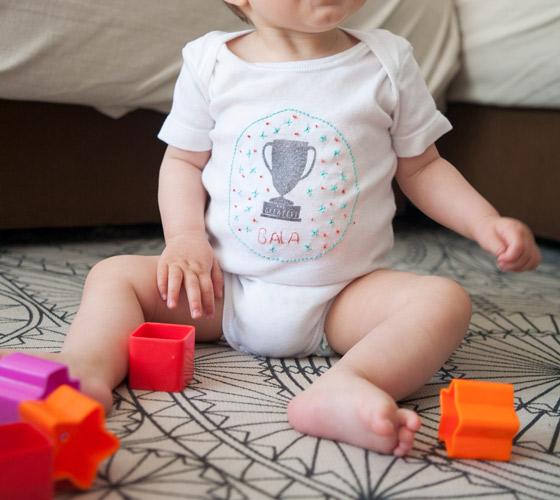 Personaliza un body de bebé