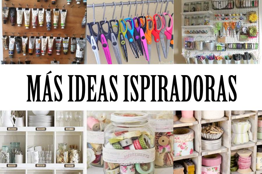 Ideas inspiradoras para ordenar tu taller craft