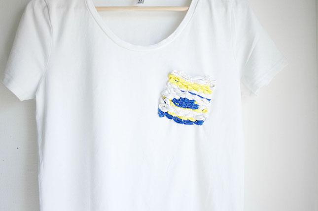 Camiseta estilo étnico terminada