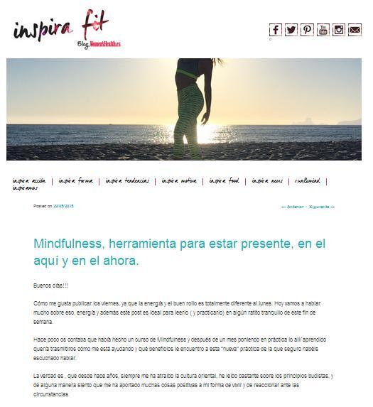 Inspira Fit, Blog sobre vida saludable (29/05/2015)