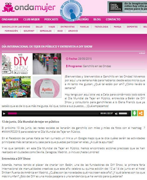 Radio Onda Mujer, Programa Ganchillo en las Ondas (28/05/2015)