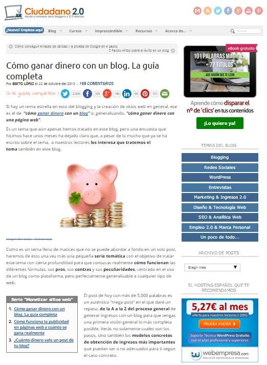 Ciudadano 2.0: Cómo ganar dinero con tu blog