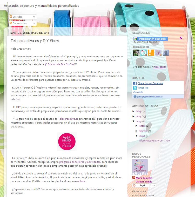 Creactiva, blog DIY (26/05/15)