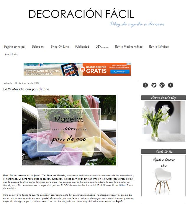 Decoración fácil, blog de ayuda a decorar (13/06/2015)