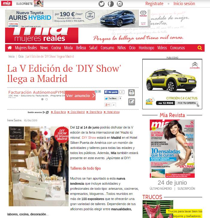 Mujeresreales.es, revista Mía online (10/06/15)