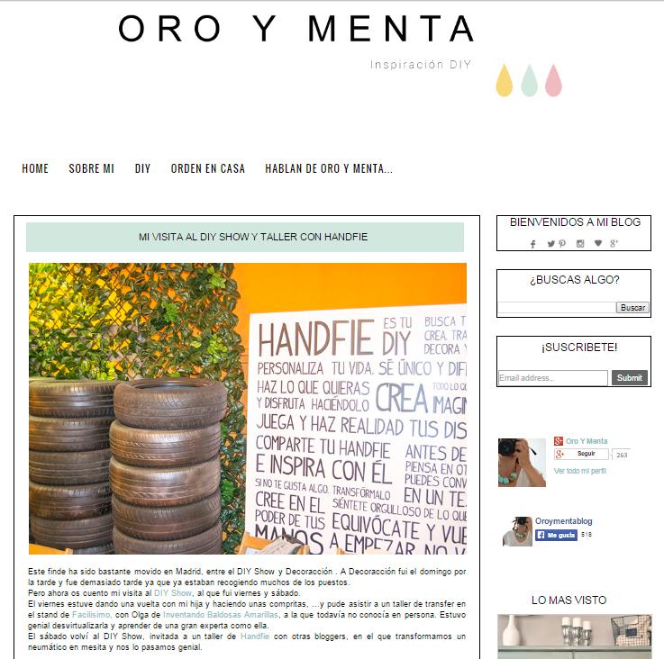 Oro y menta, blog DIY (15/06/15)