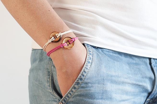 pulseras botón fáciles, crafty y veraniegas
