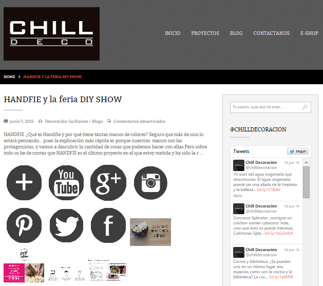 Chill Decoración, web de decoración (7/06/2015)