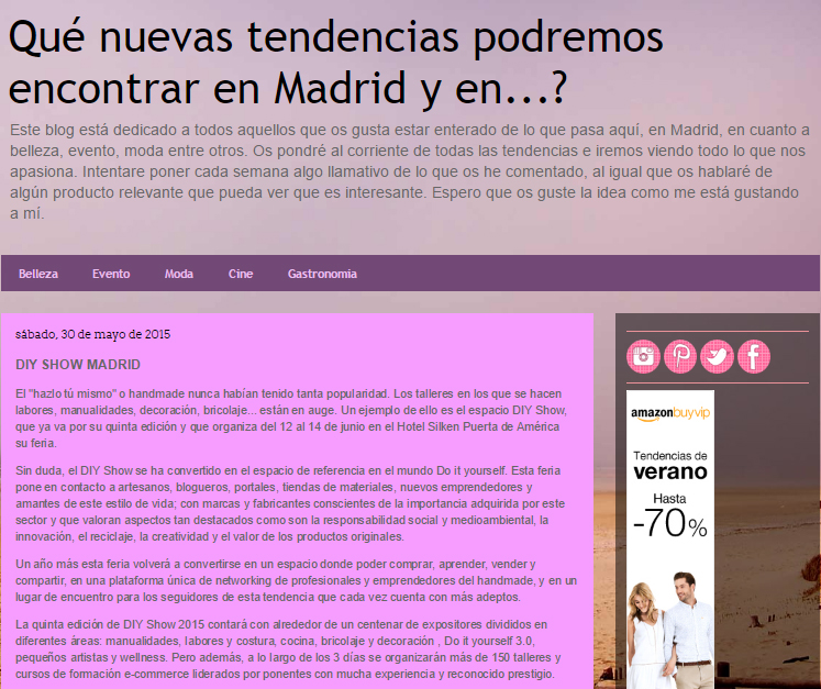Madridtendencias, blog sobre ocio en Madrid (30/05/15)
