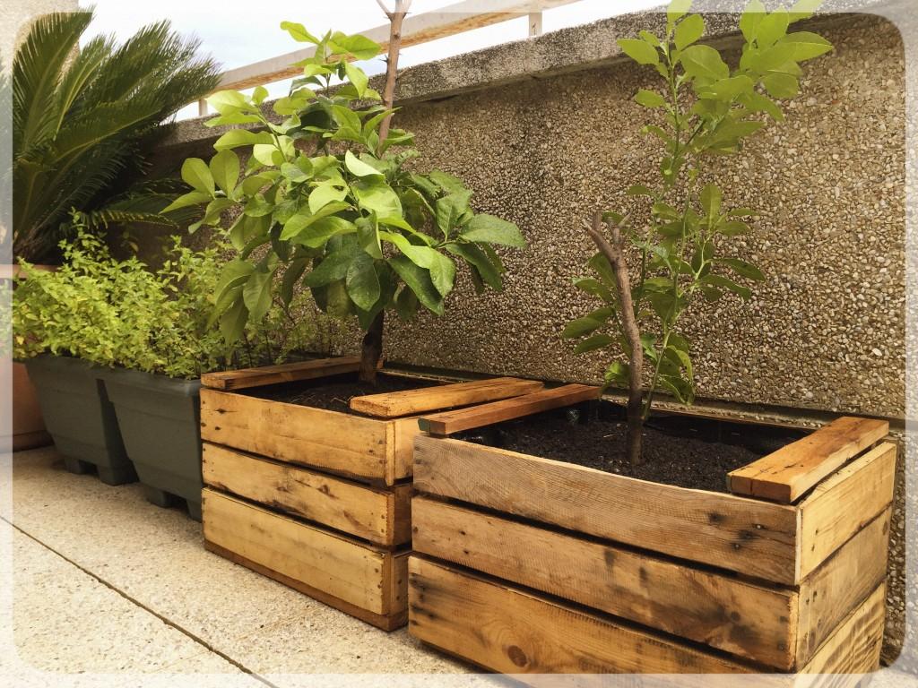 Jardineras madera tarima de madera bancos y jardineras - Jardinera de madera ...