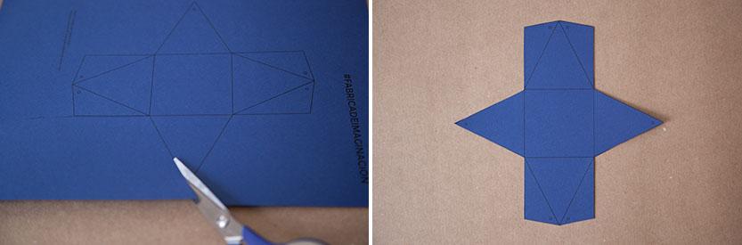 Imprimir el patrón para el packaging y recortarlo