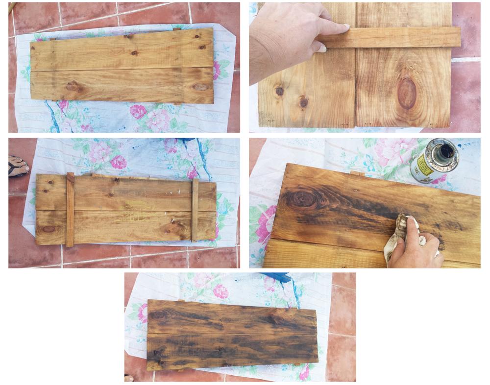 Cartel de palets - Montar y echar betun