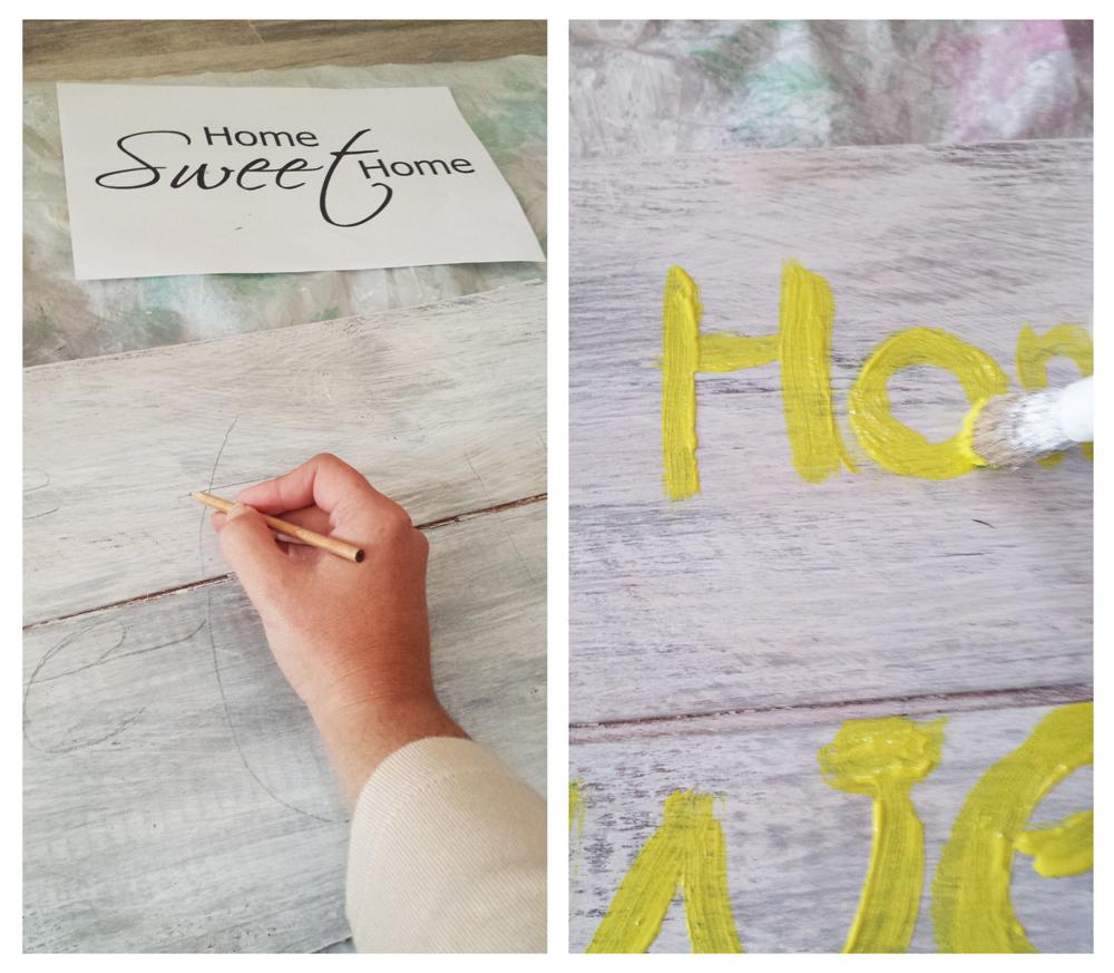 Cartel de palets - Pintar letras