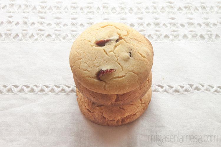 Ingredientes para las galletas de maíz y arándanos