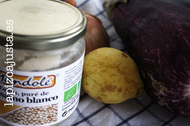 ingredientes del paté vegetal de berenjena