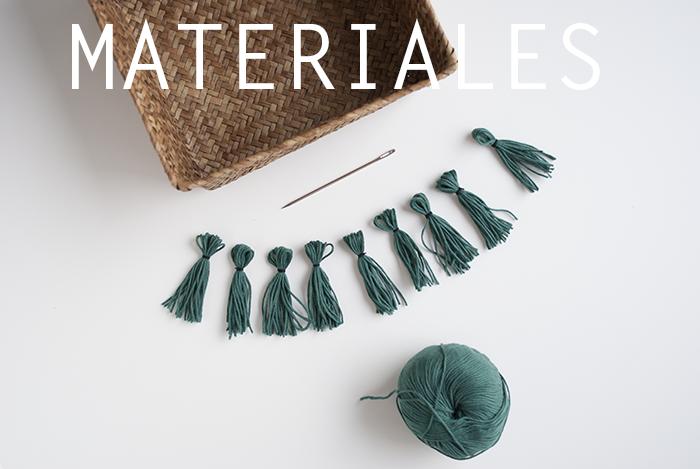 Materiales para personalizar un cesto de paja
