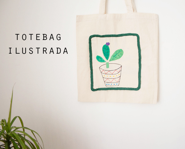 tutorial totebag ilutrada