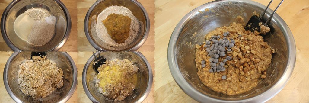 Paso 1 muffins integrales de plátano y avena