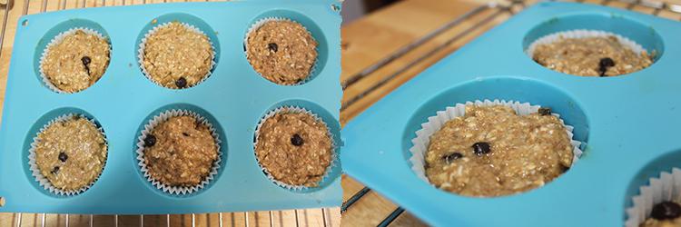 Paso 2 muffins integrales de plátano y avena
