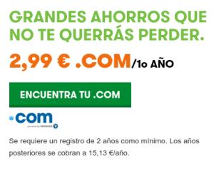 Descuento compra dominio - AulaTecnologica.com