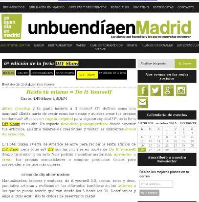 Unbuendiaenmadrid, ocio en Madrid (26/10/2015)