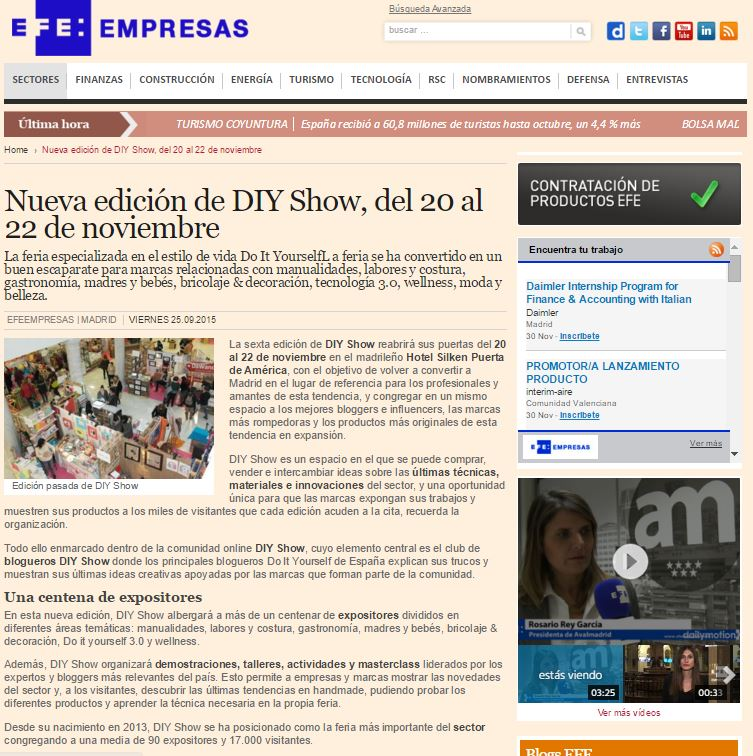 EFEEmpresas, Información económica (25/09/2015)
