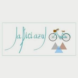 la bici azul