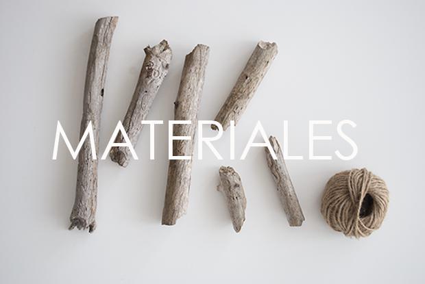 materiales para el DIY Árbol de Navidad