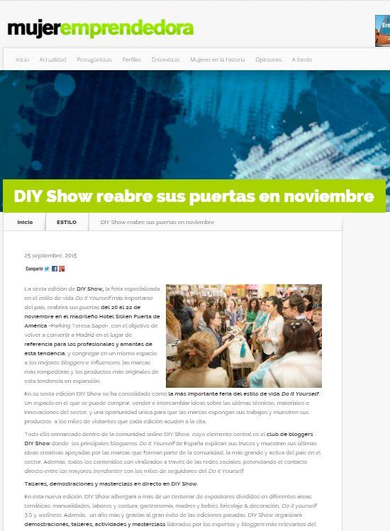 Mujeremprendedora.net, revista para emprendedoras (25/09/2015)
