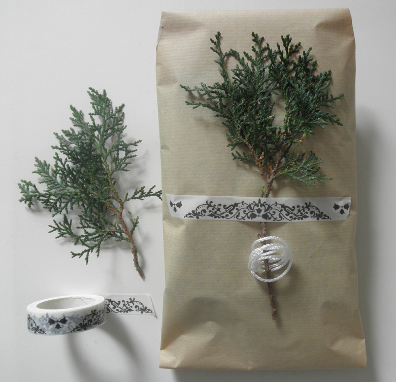 empaquetado sencillo con ramita