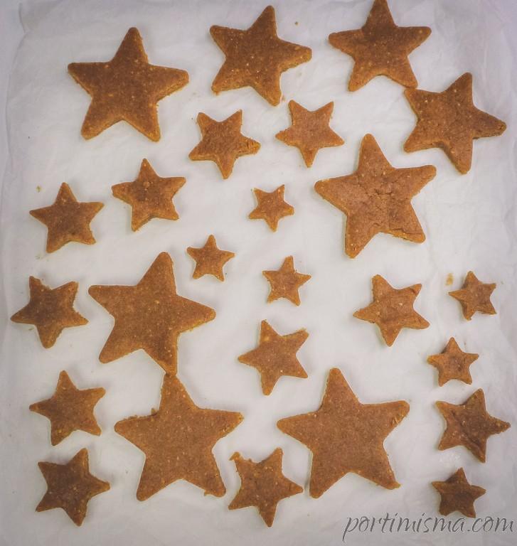 galletas de navidad en papel vegetal