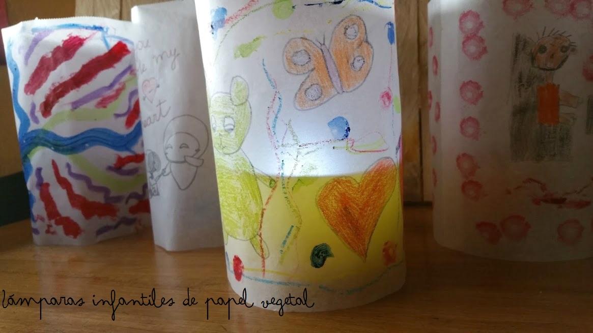lámpara infantil de papel vegetal