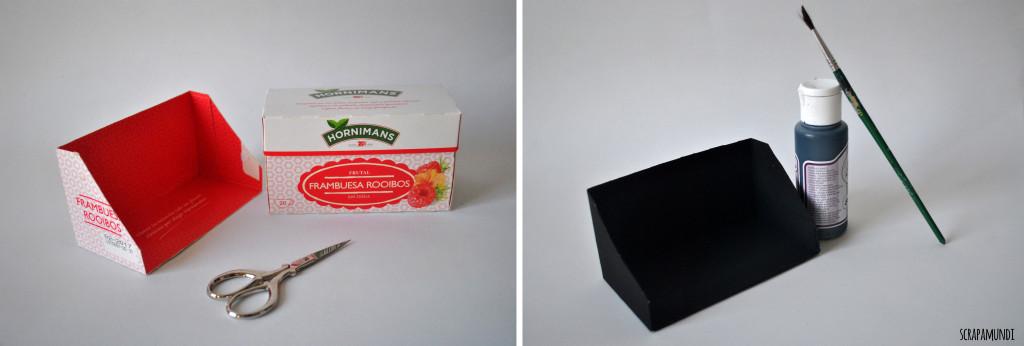 recortamos la caja dejando la forma que ves en la foto