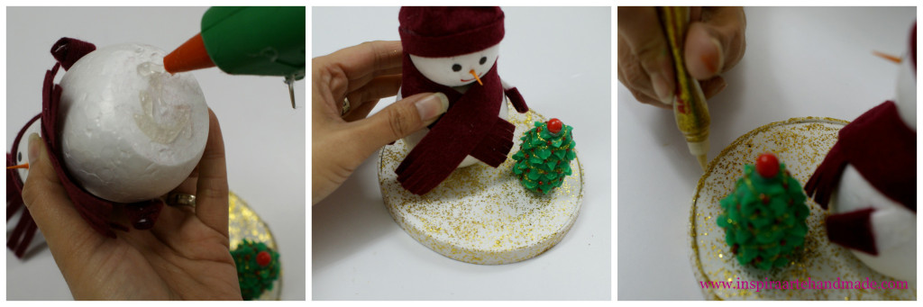 Paso 7 del muñeco de nieve