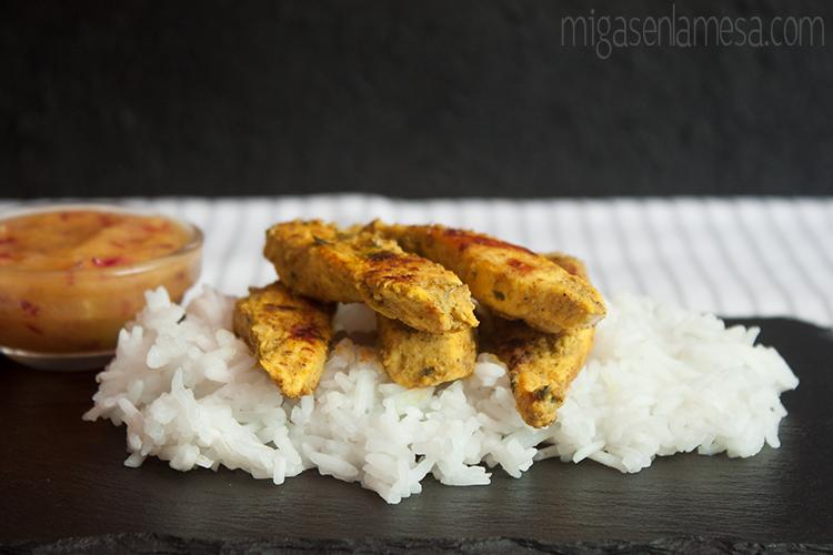 Pollo tandoori relish de mango