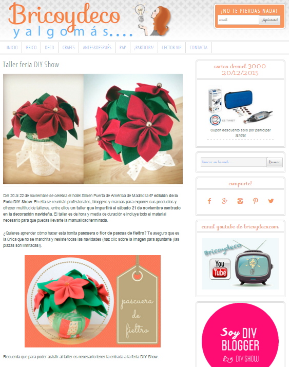 Bricoydeco y algo más, blog DIY (11/2015)