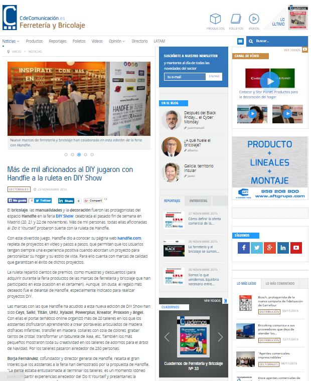 Cdecomunicación, sector ferretería (23/11/2015)