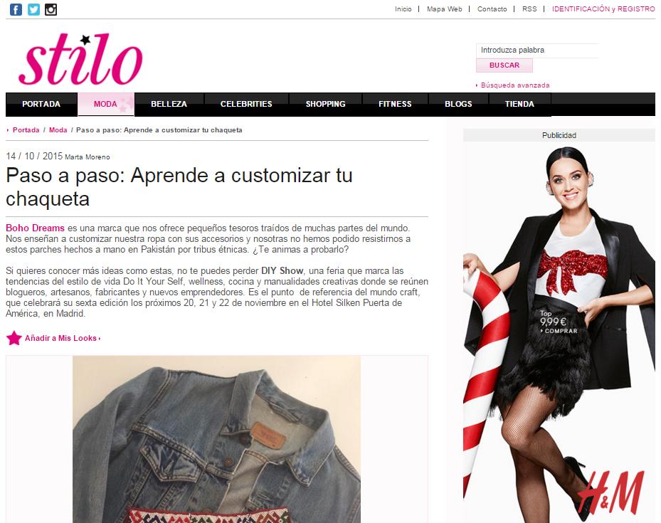 Cuorestilo, revista online de lifestyle (14/10/2015)