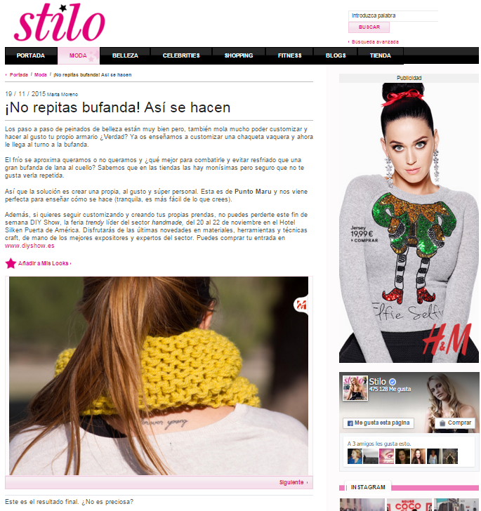 Cuore Stilo, revista de lifestyle (19/11/2015)