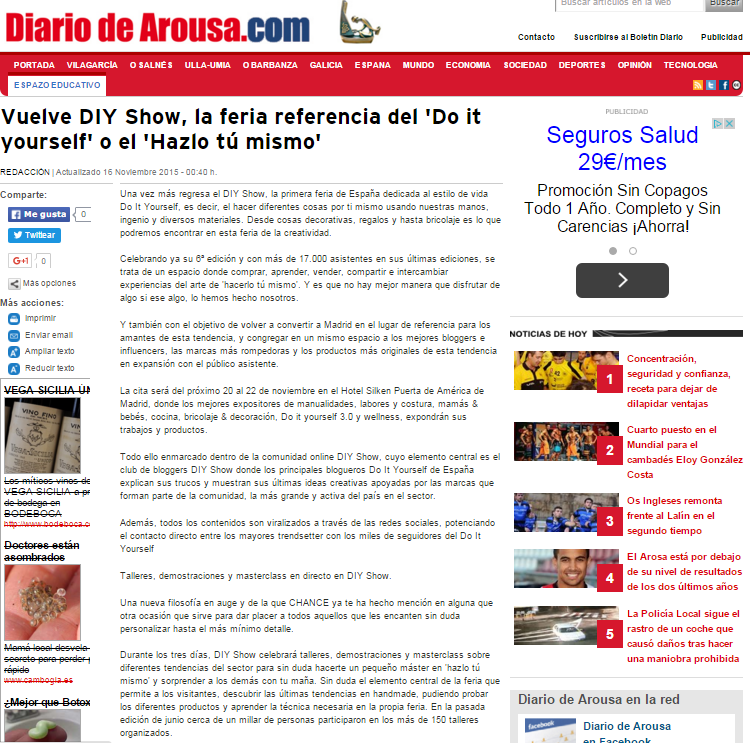 Diariodearousa, diario online (16/11/2015)