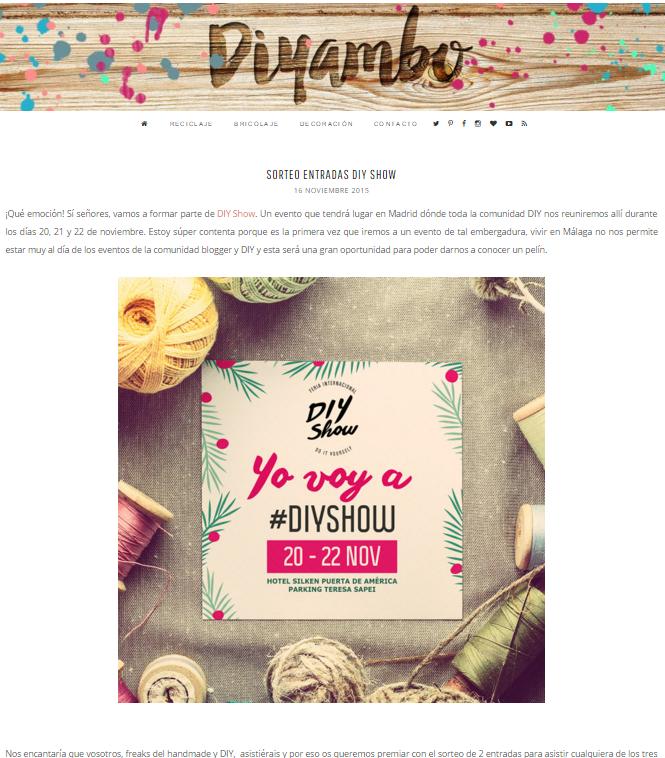 Diyambo, blog DIY (16/11/2015)