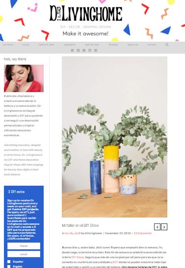 Dr. Livinghome, blog DIY (23/11/2015)