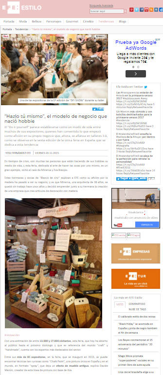 Efe Estilo, agencia de comunicación (20/11/2015)