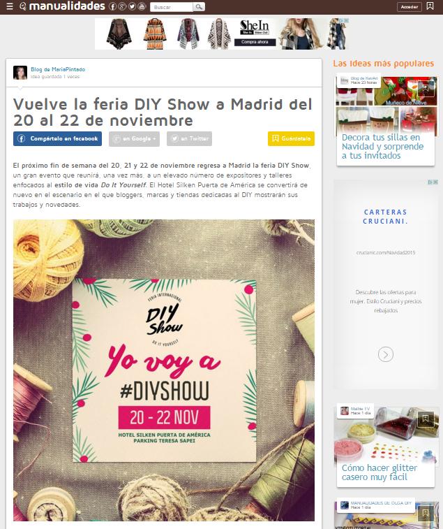 Facilisimo.com, portal DIY (15/11/2015)